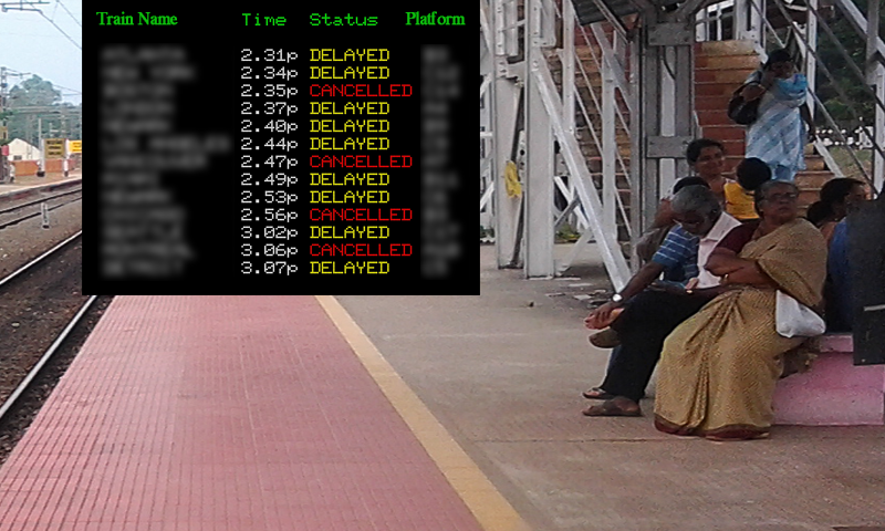 Delayed trains at Kanpur
