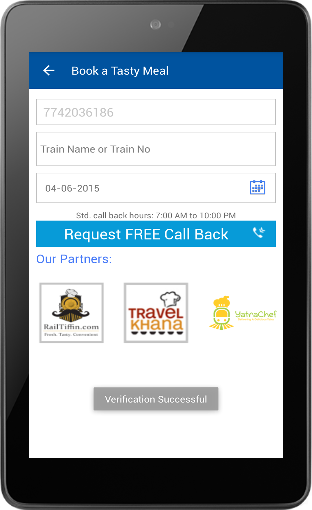 Food Ordering using RailYatri 04