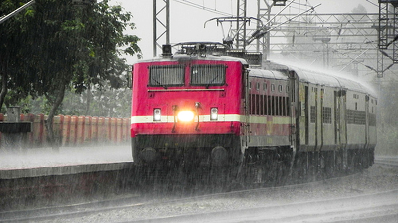 Train journey during monsoon