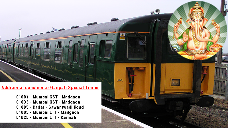 Special Trains for Ganesh Chaturthi