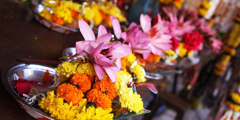 Offerings at Indian Temples
