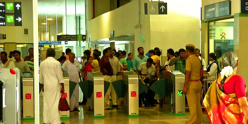 Chennai Metro Gates