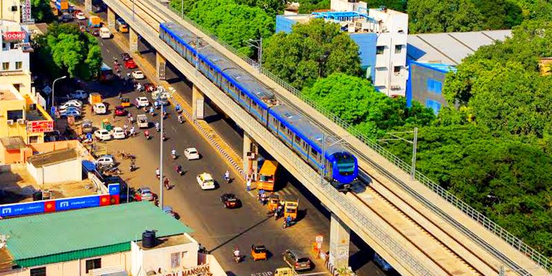 Chennai Metro running