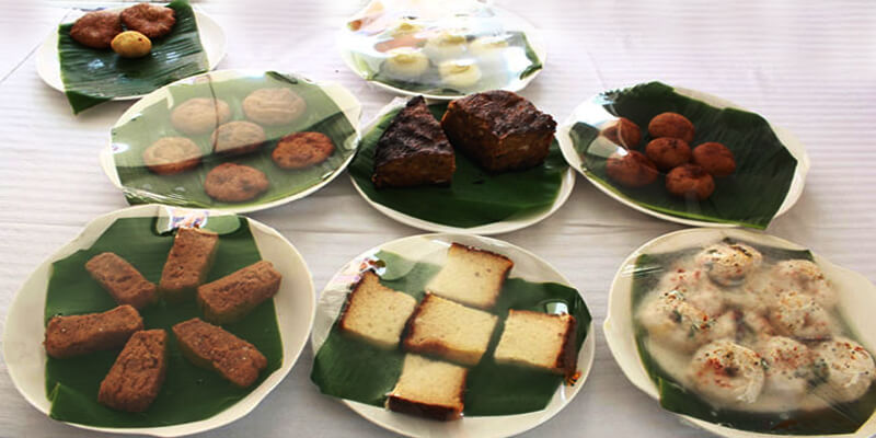 Variety of food during Rajo