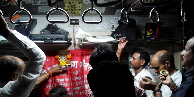 BhajanMandali Inside Mumbai Local