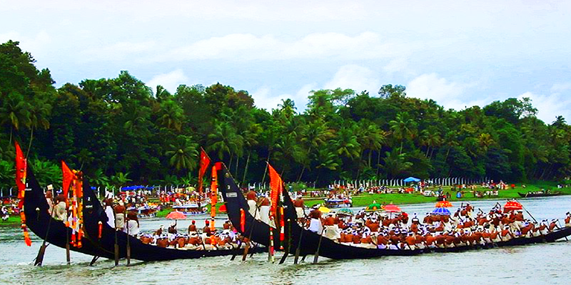 Aranmula boat race on Kanha's birthday