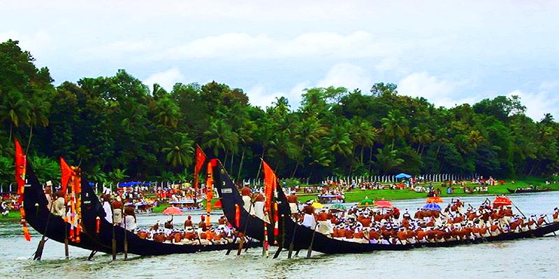 Aranmula boat race on Kanha's birthday