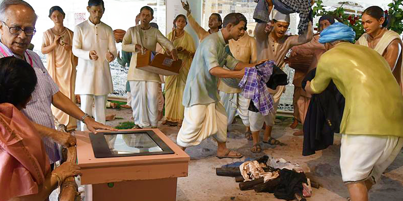 Re-enactment of Swadeshi Movement
