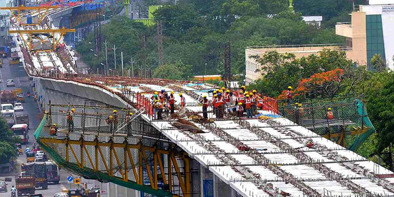 Hyderabad Metro under Construction