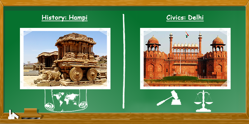 History in Hampi and Civis in Delhi
