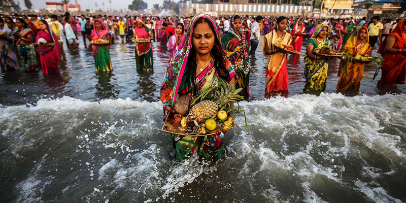 Breaking fast on Chhath