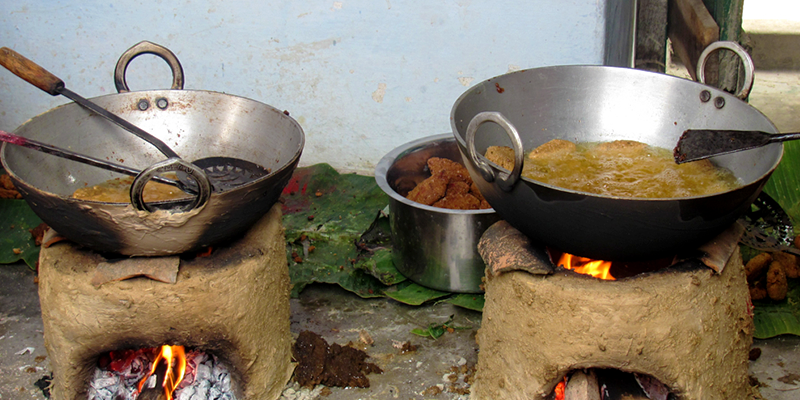 Food cooked on Chulha