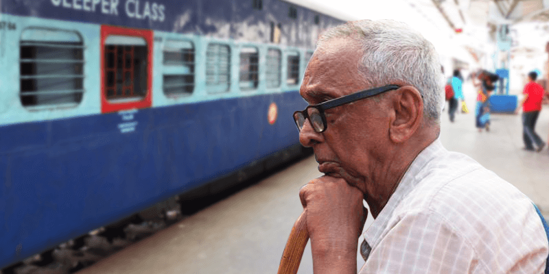senior citizens in train