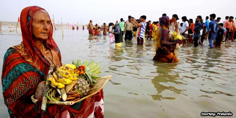 Vraitins during Chhath