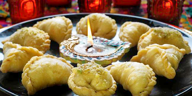 Diwali food in Gujarat - Ghugra