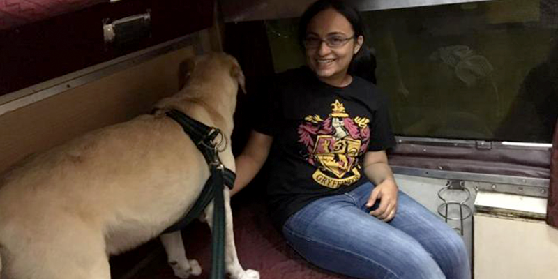 Traveling with dog in Indian Railways at First Class