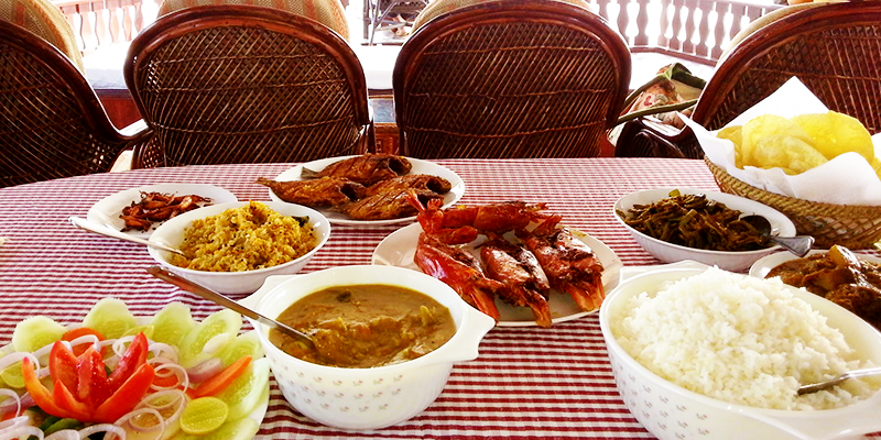 Food in houseboat