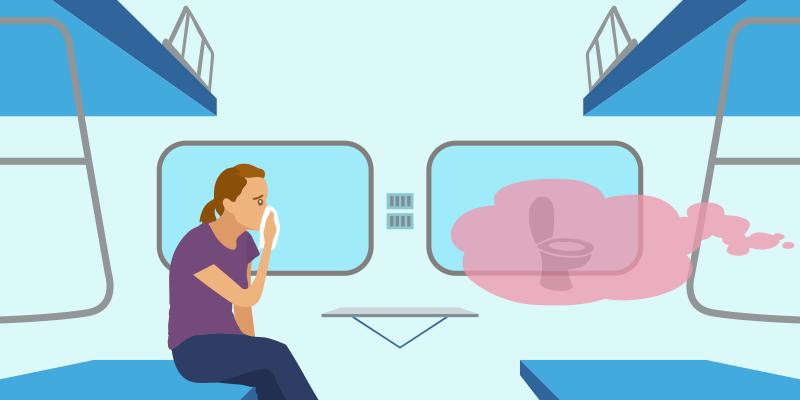 keep you train's bathroom neat & clean