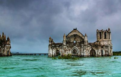Shettihalli Church Rising from the waters