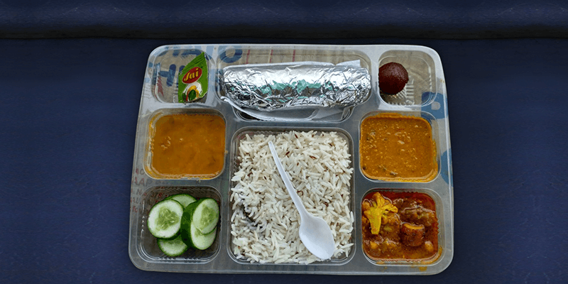 Fresh meal service on train