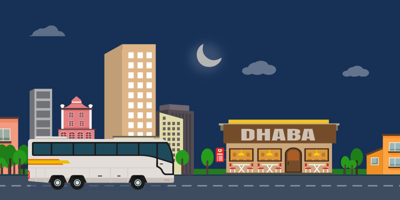 Eat local cuisines while travelling on bus