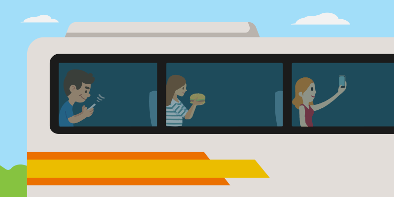 Free Wi-Fi service on bus