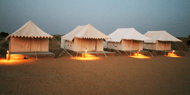 Sam Sand Dunes tent stay