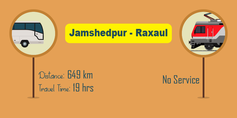 Jamshedpur to Raxaul by bus