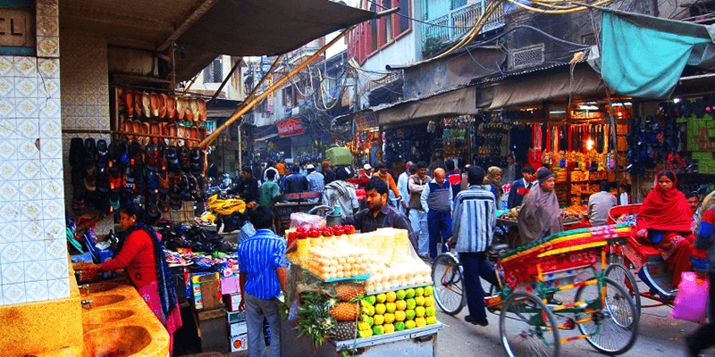 Chandni Chowk in Old Delhi