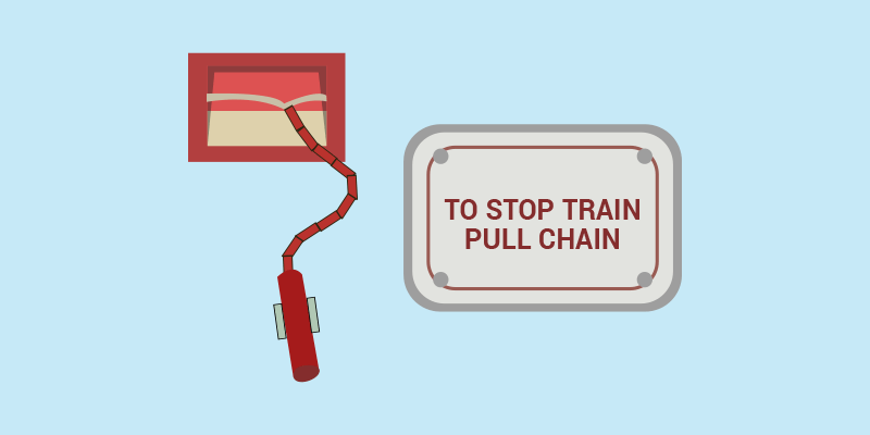 emergency braking system in train