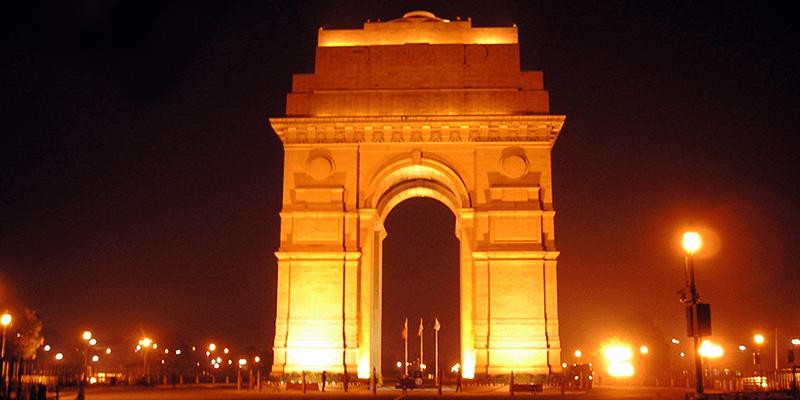 India Gate by Delhi Metro