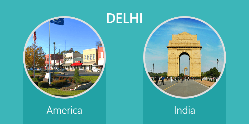 Indian places in foreign land