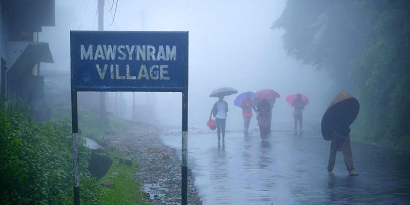 highest rainfalls in India