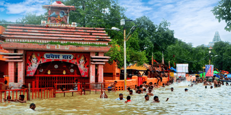 Submerged Hanuman Temple